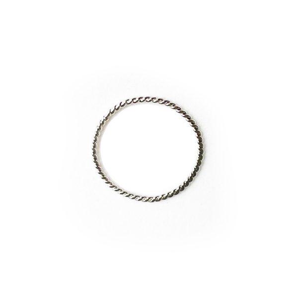anel fio torcido ródio