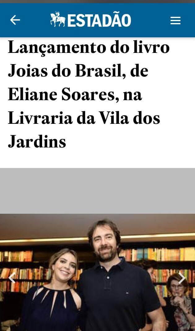 Lançamento do Livro Joias do Brasil, nele temos um capítulo contando a história da Plume