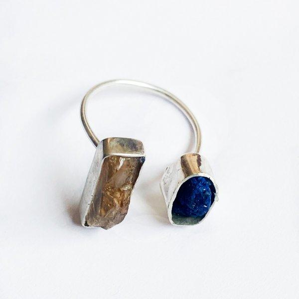 anel-due-topázio-imperial-azurita-branco-plume-acessórios
