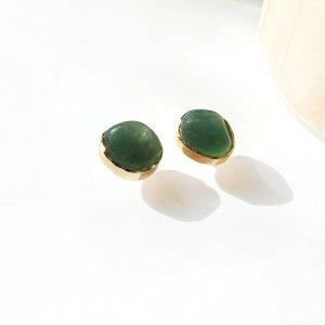 brinco-solitário-quartzo-verde-plume-acessórios